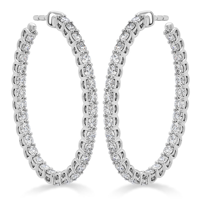 2.66 ctw. Signature Oval Hoop - Large in 18K White Gold