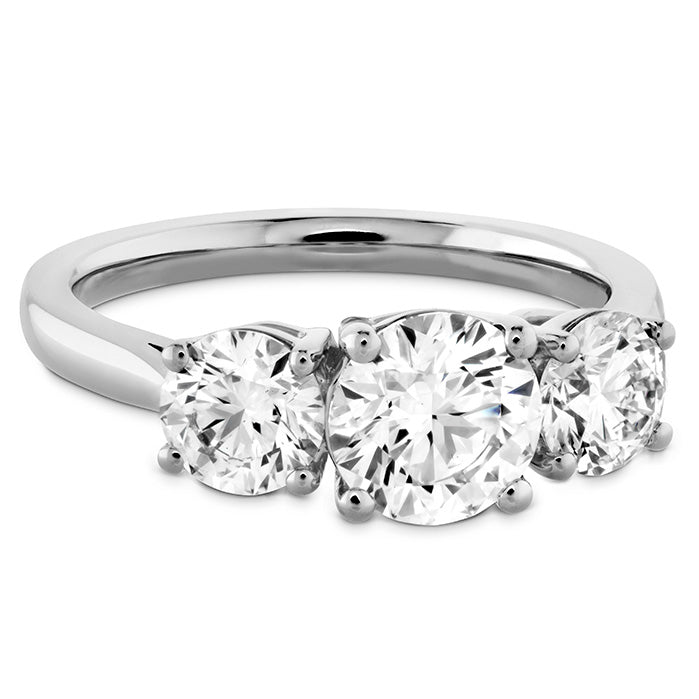 0.3 ctw. Simply Bridal Three Stone Semi-Mount in 18K White Gold