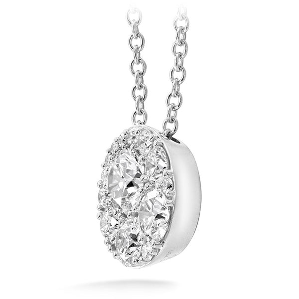 0.25 ctw. Tessa Diamond Circle Pendant in 18K White Gold