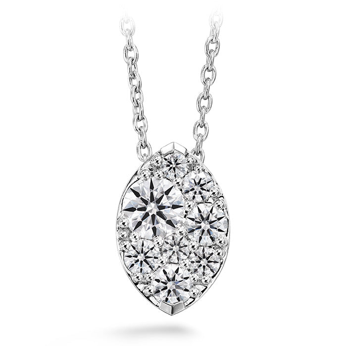 0.25 ctw. Tessa Diamond Navette Pendant in 18K White Gold