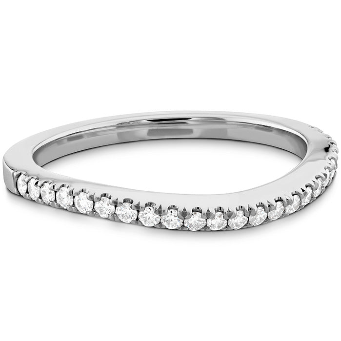 0.18 ctw. Transcend Premier Curved Diamond Band in 18K White Gold