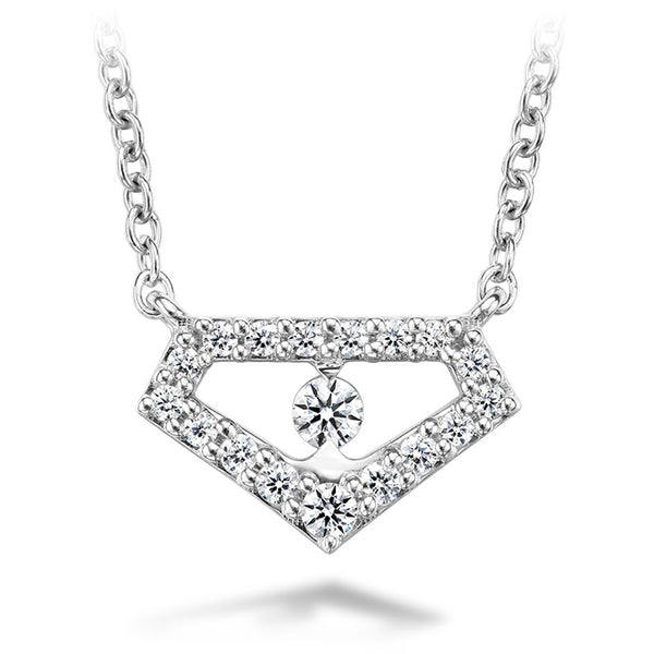 0.12 ctw. Triplicity Emblem Pendant in 18K White Gold