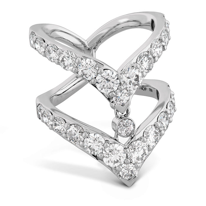 2.65 ctw. Triplicity Double Pointed Ring in 18K White Gold