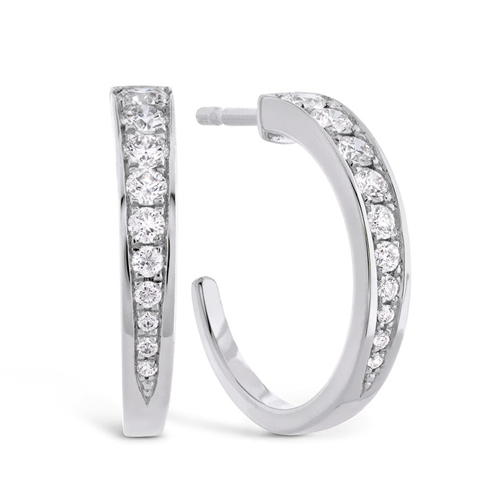 0.4 ctw. Triplicity Small Hoop Earrings in 18K White Gold