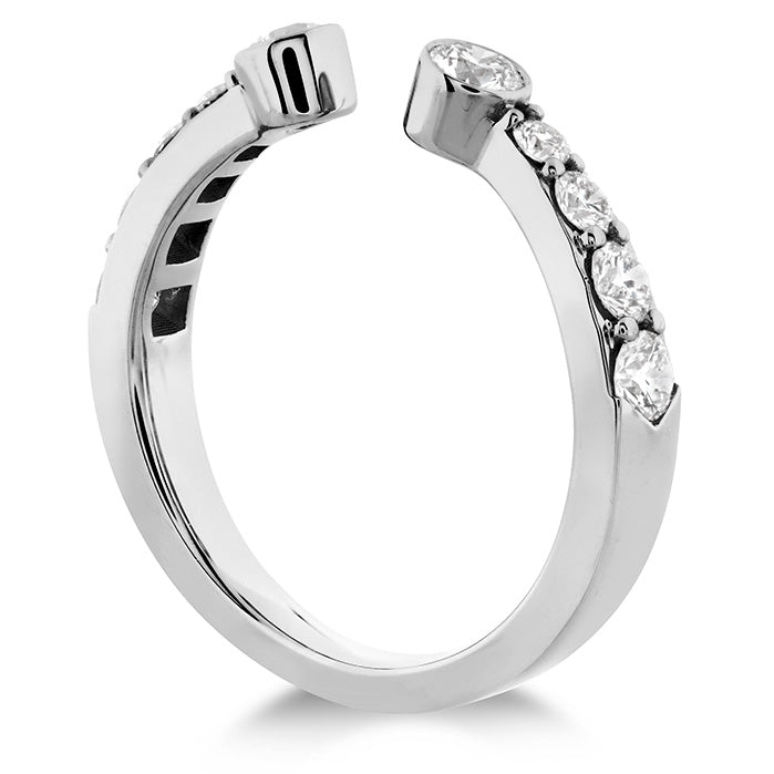 0.71 ctw. Triplicity Open Bezel Band in 18K White Gold