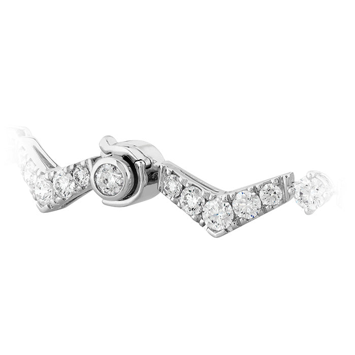 5.05 ctw. Triplicity Pointed Line Bracelet in 18K White Gold
