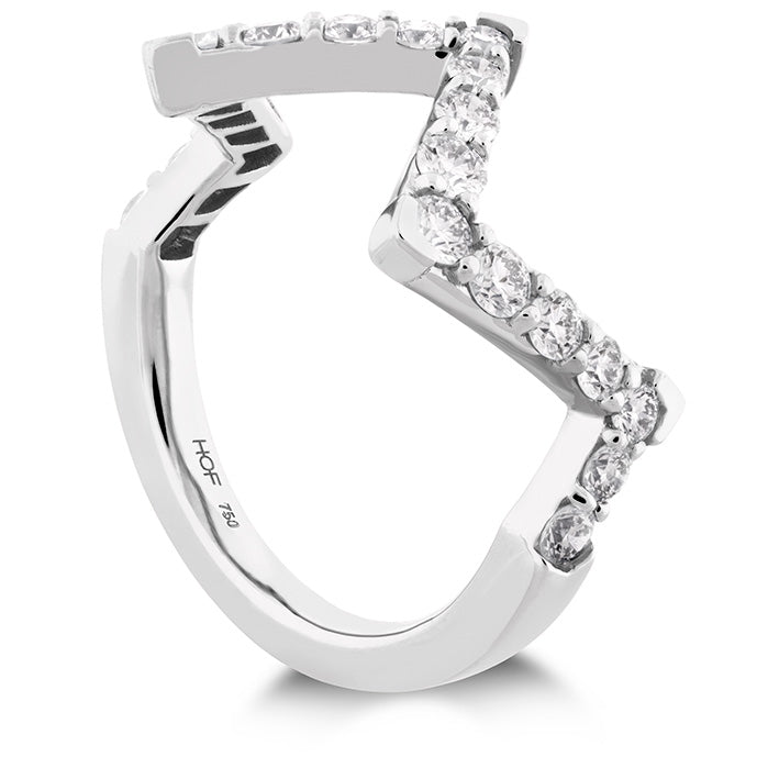 0.7 ctw. Triplicity Pointed Diamond Ring in 18K White Gold