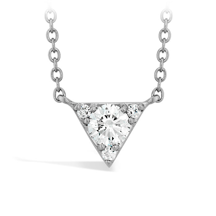 0.28 ctw. Triplicity Triangle Pendant in 18K White Gold