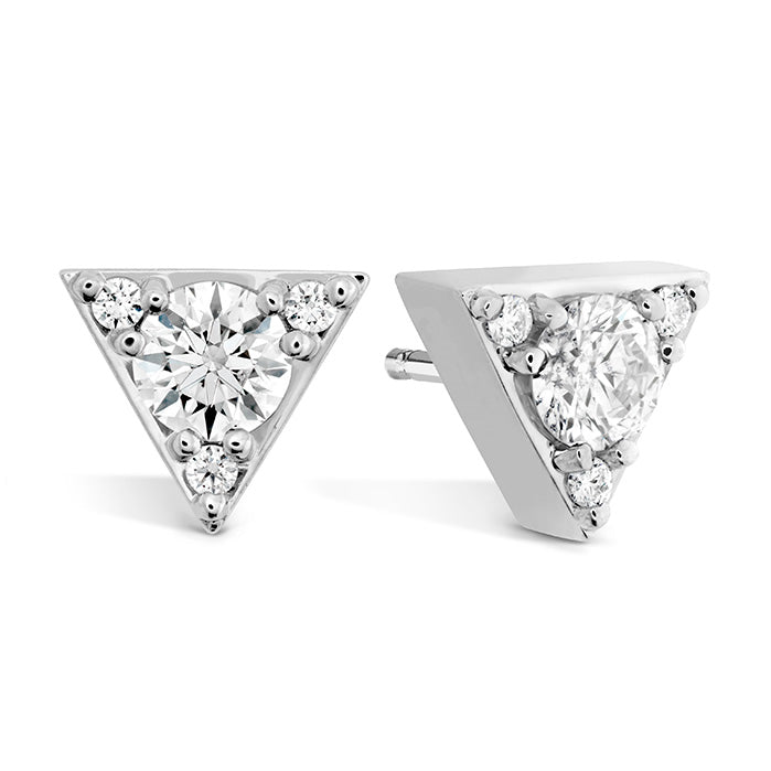 0.3 ctw. Triplicity Triangle Stud Earrings in 18K White Gold