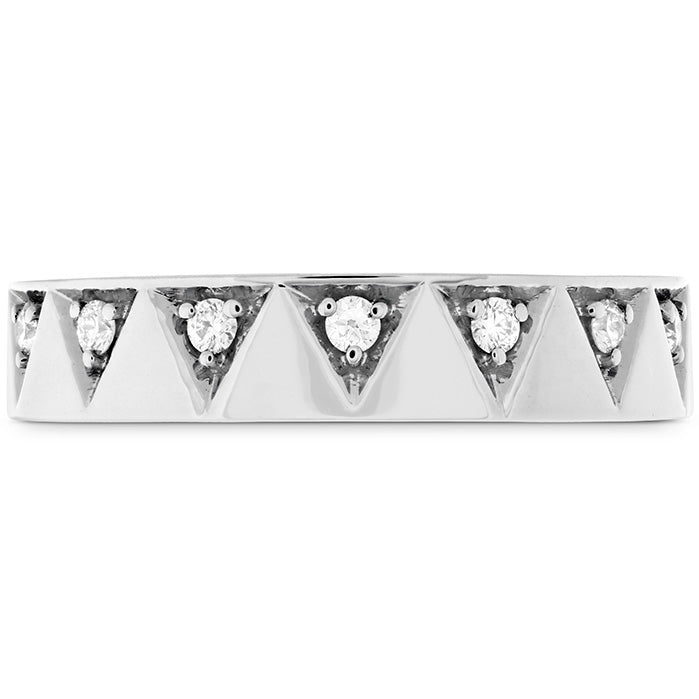 0.1 ctw. Triplicity Triangle Multi Diam Band 4mm in 18K White Gold
