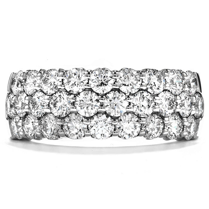 1.1 ctw. Truly Triple Row Right Hand Ring in 18K White Gold