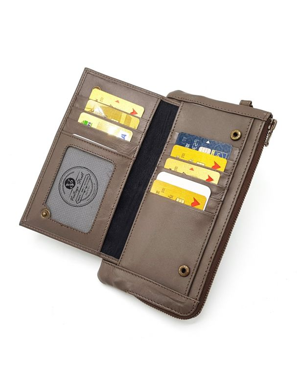 PHONE WALLET - BROWNISH GREY