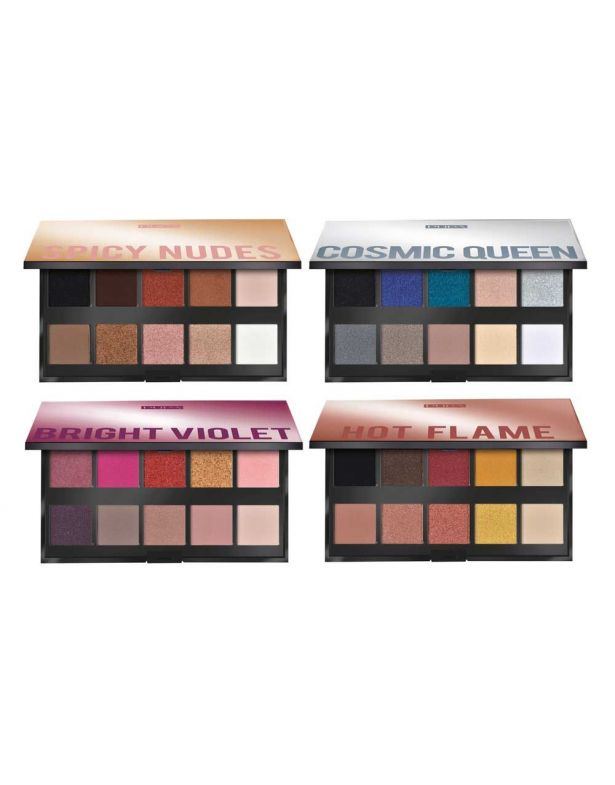Pupa Make Up Stories - Palette Of 10 Multi-Finish Eyeshadows