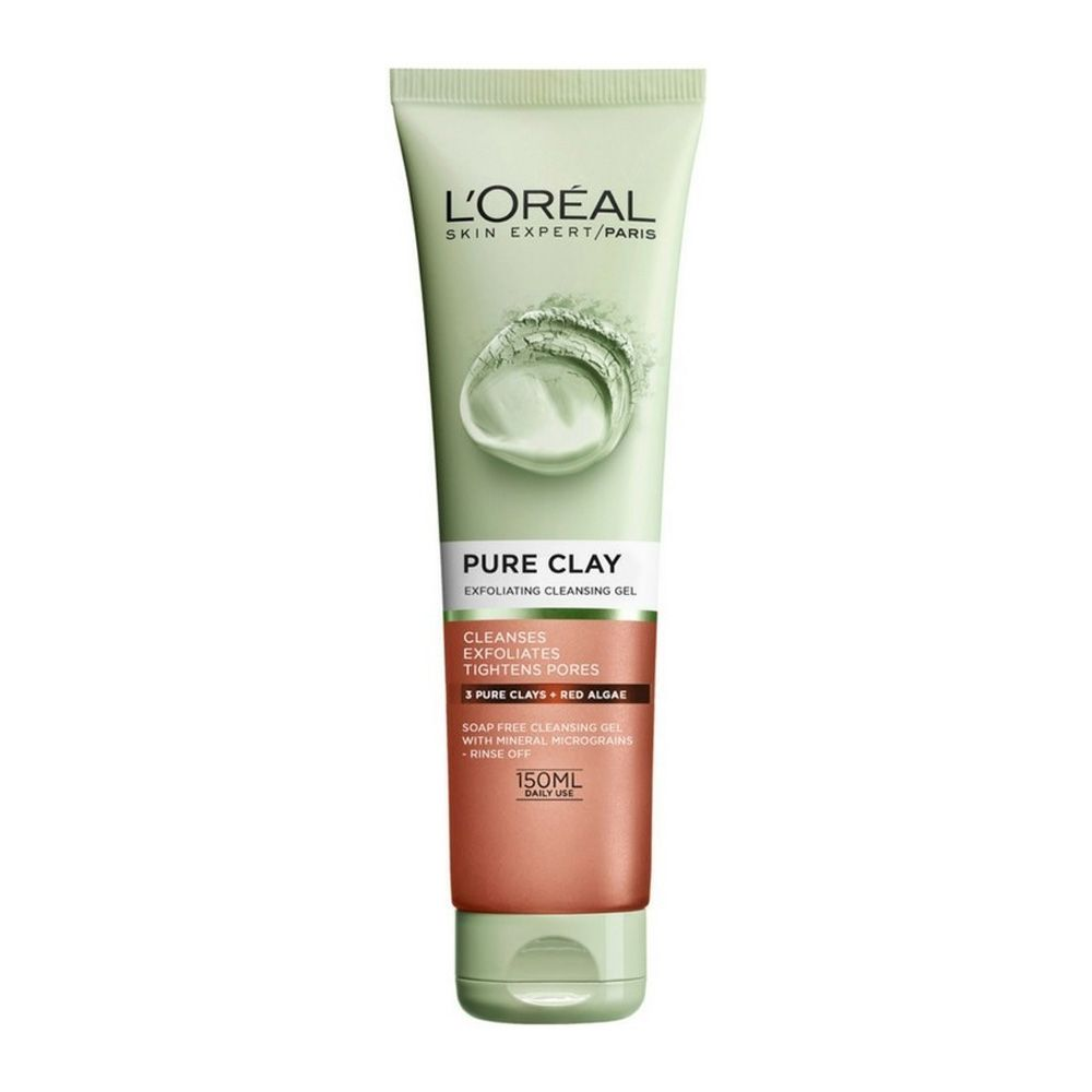 L'Oreal Paris Pure Clay Red Face Cleanser with Red Algae, 150ml