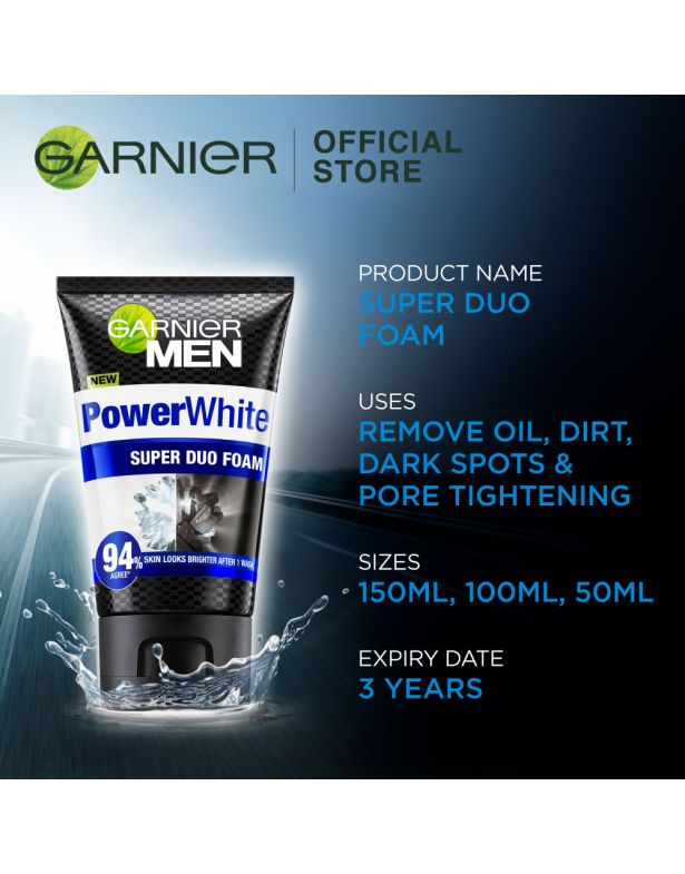 Garnier Men Power White Super Duo Foam, 50ml