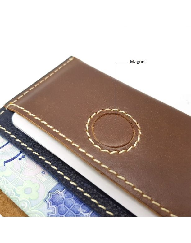 COMET- CARD HOLDER BROWN