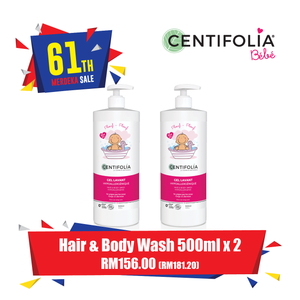 Twin Pack Centifolia Hair and Body Wash ( FREE DELIVERY - WM ONLY)