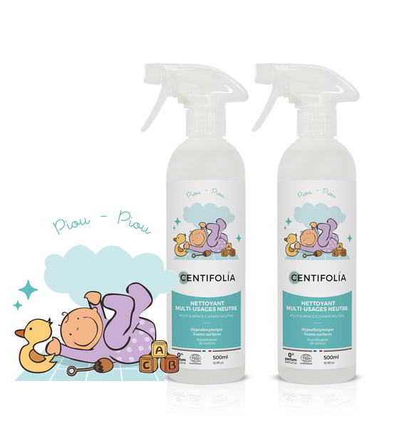 Twin Pack - Centifolia Organic Multi - Surface Cleaner Neutral 500ML x 2