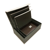 Premium Fabric Storage Display Gift Jewelly Box with Magnet Button