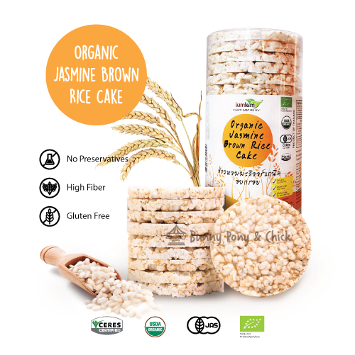 LumLum Organic Jasmine Brown Rice Cake