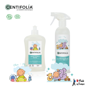 SuperDeal - Centifolia Organic Multi-Surface Cleaner Neutral 500ml + Bottle & Dish 500ml