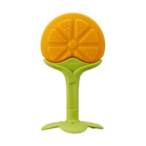 ANGE Fruit Teether with Clip - Orange