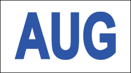 MONTH AUGUST/ AUG STICKER ON CALIFORNIA LICENSE PLATE