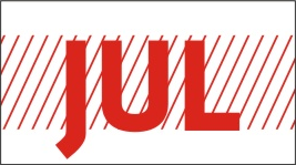MONTH JULY / JUL STICKER ON CALIFORNIA LICENSE PLATE - California License Plate
