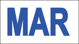 MONTH MARCH / MAR STICKER ON CALIFORNIA LICENSE PLATE