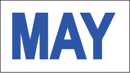 MONTH MAY / MAY STICKER ON CALIFORNIA LICENSE PLATE