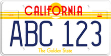 Load image into Gallery viewer, 1985 CALIFORNIA THE GOLDEN STATE LICENSE PLATE