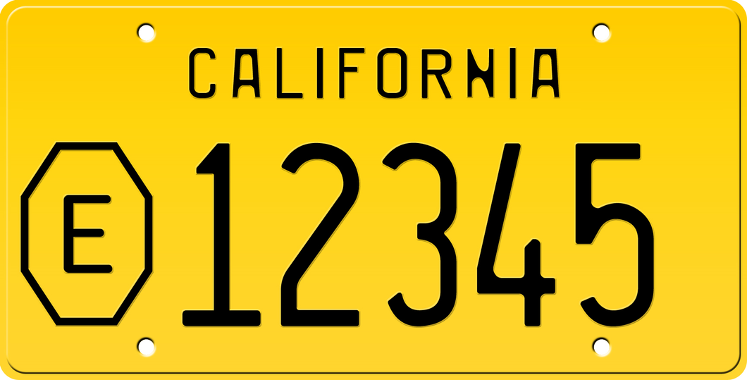 1956 COUNTY EXEMPT CALIFORNIA LICENSE PLATE