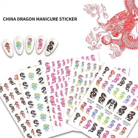 Trending Chinese Dragon Stickers (Set of 4)