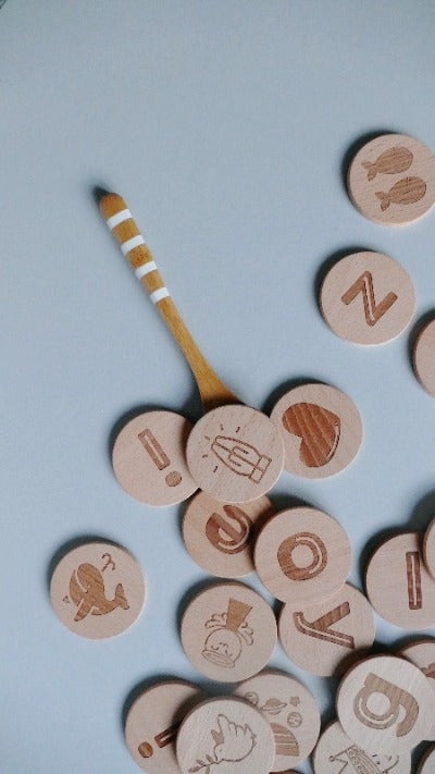 A-Zs of His Goodness: Wooden Alphabet Discs
