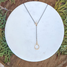 Load image into Gallery viewer, Circle Lariat Necklace