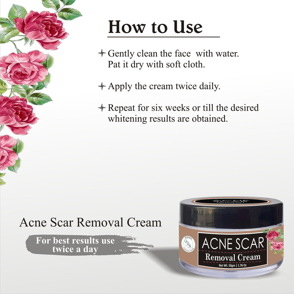 Acne Scars Removal/Remove all types of scars with Almond Oil,Rosemary, Vitamin B3, Grapeseed & other natural ingredients.-50gm