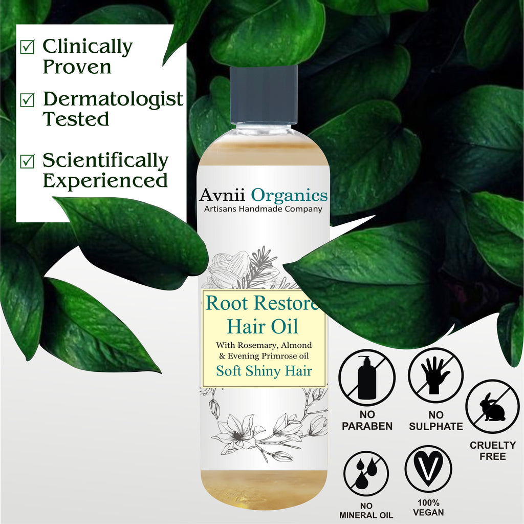 Root Restore Hair Oil For Hair Fall Redution, Long Hair, All Natural Ingredients