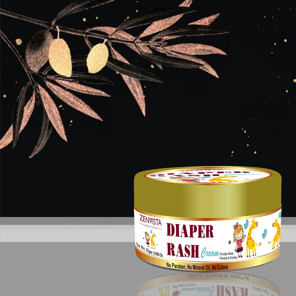 Diaper Rash Cream provide relief from rashes / help to moisturize baby smooth skin/ With Chamomilla and Jojoba All Organic Ingredients - 25gm