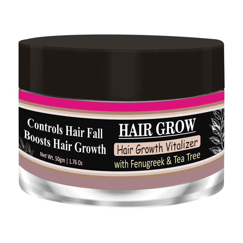 Zenvista Hair Growth Vitalizer -Boosts Hair Growth, Prevents Hair Fall Delays Hair Greying With Fenugreek, Tea Tree, Coconut Cream, SunFlower No Mineral Oil. Paraben Free - 50gms