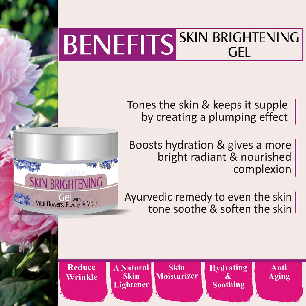 Zenvista Skin Brightening  Gel - Oil-Control Hydrating Formula for Skin Brightening - Removes Acne, Wrinkles, Blackheads - Cruelty Free - 50gm