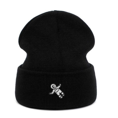 BEANIE SPACE ASTRONAUT BLACK