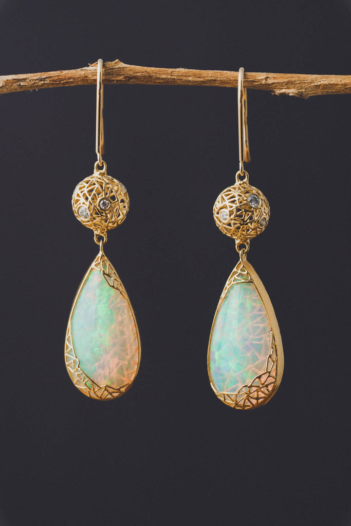 unique opal earrings,