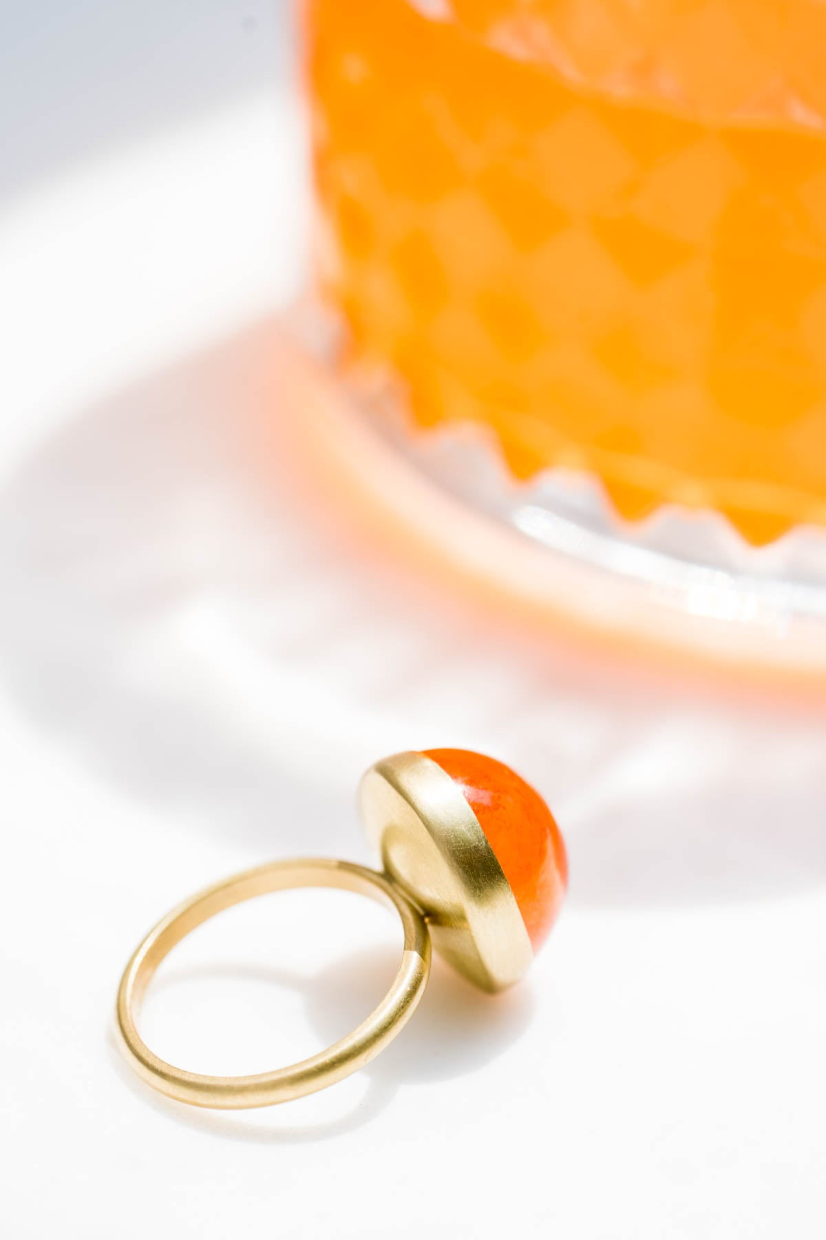 Spessartite Ring, handmade jewelry, hand crafted in California.