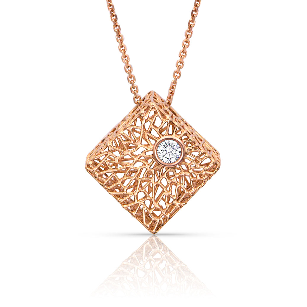 Rose Gold Box Pendant