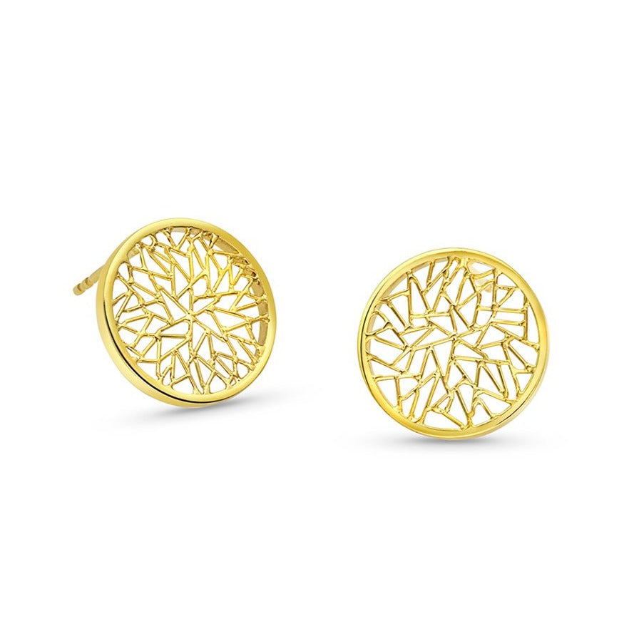 Round Disc Earrings- Small