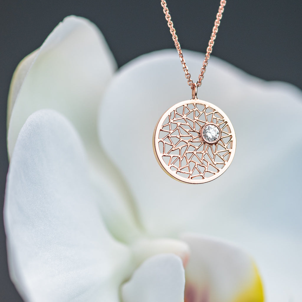 Rose Gold Pendant with Diamond