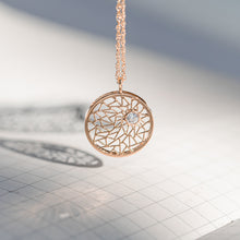 Load image into Gallery viewer, Rose Gold Pendant with Diamond
