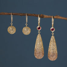Load image into Gallery viewer, Gold Bubble Earrings with French Wire