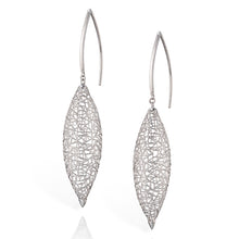 Load image into Gallery viewer, Platinum Marquise Earrings
