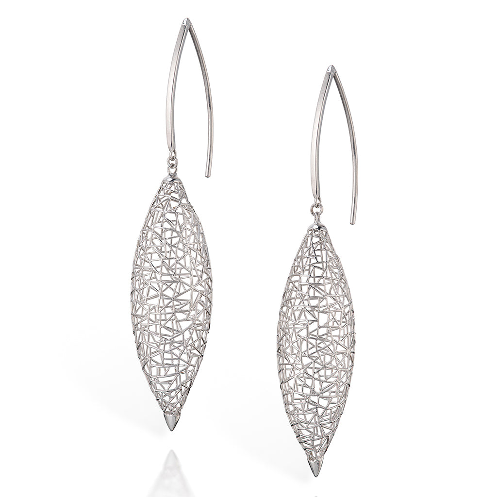 Platinum Marquise Earrings